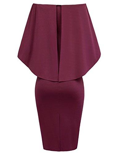 GRACE-KARIN-Women-Off-Shoulder-Batwing-Cape-Midi-Dress