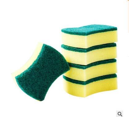 SimpleLife 5 Piezas / 1 Juego Magic Sponge Eraser Kitchen Duster Wipes Home Clean Accesorio Microfiber Dish Cleaning Esponjas de melamina Nano Kitchen's Tools (Color: Amarillo)