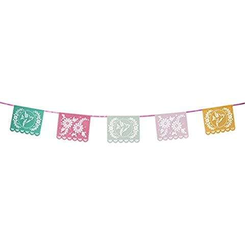 Talking Tables Floral Fiesta Floral Hanging Bunting for a Tea Party or Birthday, Multicolor - Fiesta Table