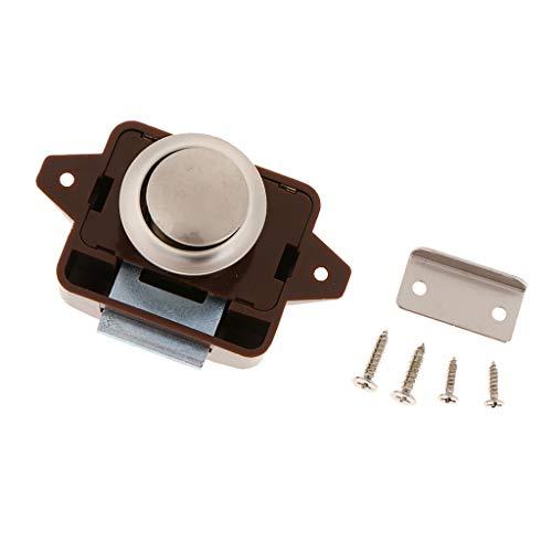 押しボタンロックラッチ プッシュロック RV ボート 引き出し 食器棚 キャビネット ドアなど適用 ネジ付き