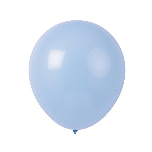 Topenca Supplies Party 12-Inch Solid Latex Balloons, 50-Pack, Light Blue