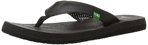 Sanuk Women's Yoga Mat Flip Flop,Ebony,8 M US from Sanuk