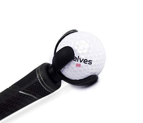 ELVES 3 PCS 4-Prong Golf Ball Retriever Grabber Pick Up Back Saver Claw Put On Putter Grip,Golf Accessories