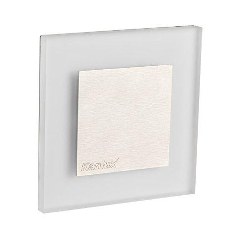 APUS LED AC-CW Kanlux LED Wandeinbauleuchte für 60mm Schalter-Dose Stahl Einbauspot Dekoleuchte Treppenlicht Einbau Leuchte Stufenlicht Strahler (Apus AC kaltweiß), 220-240V, incl. LED-Trafo ...
