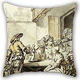 - Throw Pillow Covers Of Oil Painting Jean-Baptiste Greuze - Savoyard With A Dancing Doll,for Husband,son,couch,shop,christmas,coffee House 18 X 18 Inches / 45 By 45 Cm(each Side)