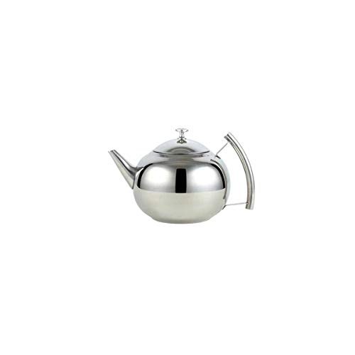 Juzhenma Thick 304 Stainless Steel Outdoor teapot Restaurant with teapot with Strainer Hotel Restaurant Kettle Cooker Large teapot 1L (0.3 Gallon) 1.5L (0.4 Gallon) 2L (0.5 Gallon) ()
