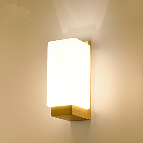 Wqaabb Murale Moderne Bois Led De Lampe Simple Verre Applique Massif CdWroexB
