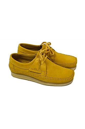 Clarks Originals 2611_Weaver_Herren, Low-Top Uomo Giallo