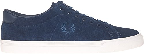 Fred Perry Men's Underspin Suede Leather Blue