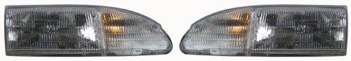 (94-95 Ford Thunderbird T-bird Headlights Headlamps Head Lights Lamps Pair Set)