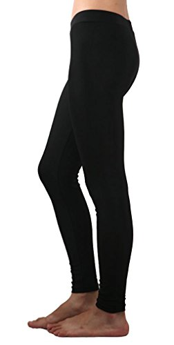 Jntworld the Highest Quality Woman Stretchy Polyester Spandex Lycra Full Ankle Color Legging (30 Colour Choice) (regular, Black)
