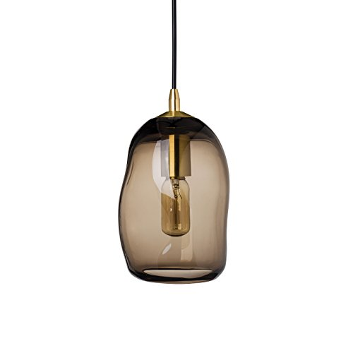 Brown Glass Pendant Light