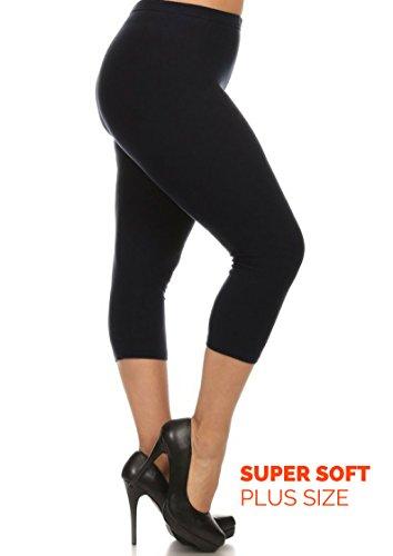 Evfalia Plus Size Buttery Soft Capri Leggings, Lightweight Pants for Women (Black One (Lightweight Legging)