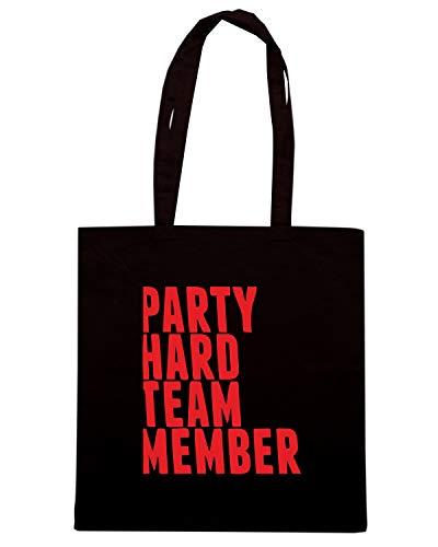 Speed Shirt Borsa Shopper Nera MAT0067 PARTY HARD TEAM MEMBER