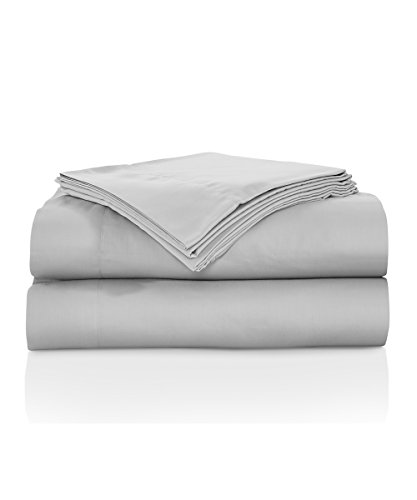 Natural Comfort RS300SS T Sausalito Night 300TC 100% Cotton Sheet Set, Twin, Silver