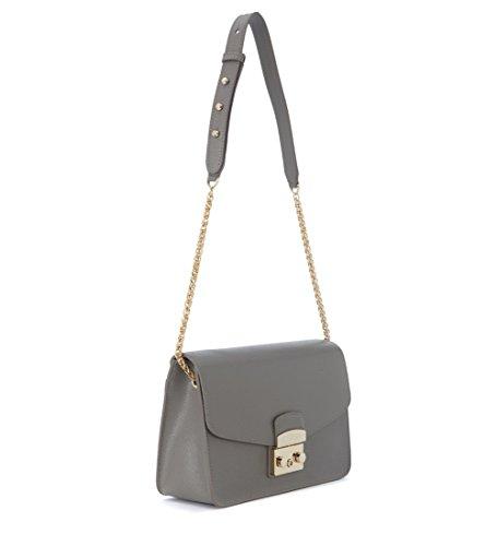 3d2dab307 Furla Metropolis grey clay cal leather shoulder bag: Amazon.co.uk: Shoes &  Bags