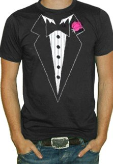 Amazon.com: Black Tuxedo with Pink Flower T-Shirts #7: Clothing