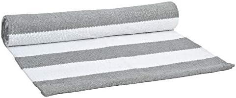 GLAMBURG Cotton Yoga Mat, Hot Yoga Rug Thick Large 24