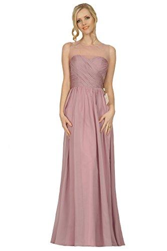 lunghezza Bridesmaids Scoop abito increspatura incrociata scollatura Style EDJ1740 formale pavimento da SEXYHER sera qOBZUnwZ