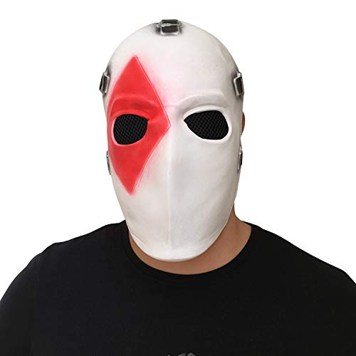(MostaShow Game Adult Wild Card Skin Poker Latex Full Face Mask Helmet Halloween Cosplay Costumes Masks Dance Party Props)