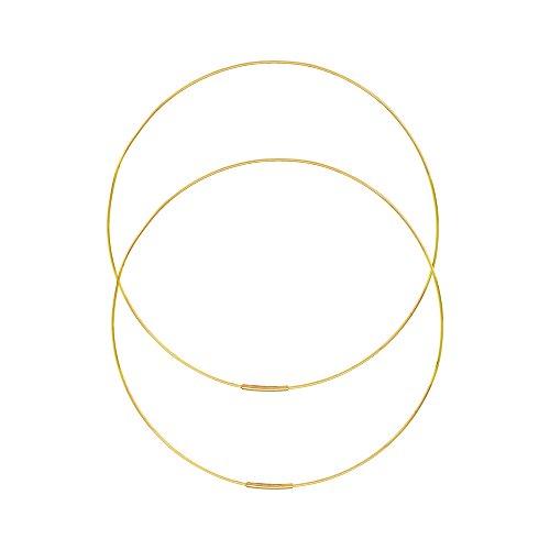 Hawley Street 14k Yellow Gold Large Wire Hoop Earrings 75mm - 75mm Earrings