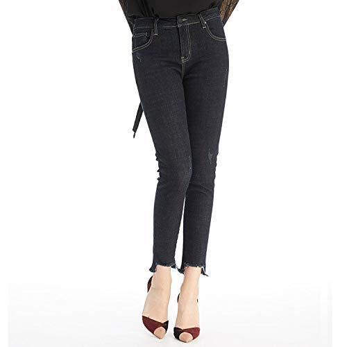 MVGUIHZPO Jeans Femme Neue Jeans, Winterjeans, Mode, dnn, Warm, Cowboy, elastisch, Fleece. L