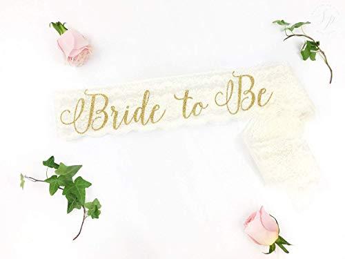 Lace Bride to Be Sash The Bride sash Bachelorette Sash Bride to Be Sash Bridal Sash glitter sash bride sash Lace Bachelorette sash