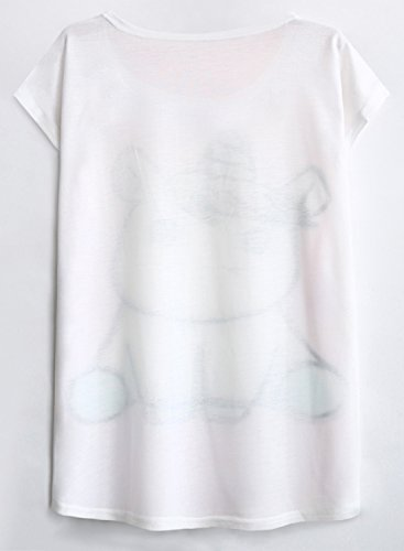 Futurino Women's Summer Colorful Bow Tie Unicorn Print Short Sleeve T-Shirt Tops (XL, Baby Unicorn) by Futurino (Image #6)