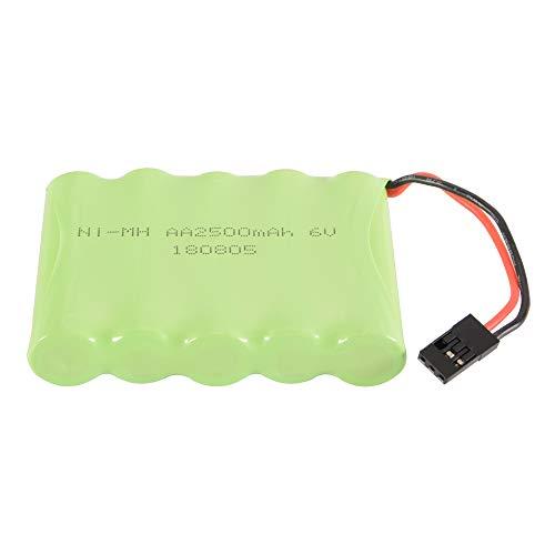 XCSOURCE RC 6V 2500mAh AA NI-MH Rechargeable Flat Battery Pack Futaba Connector RC Futaba Hitec JR BC754