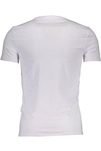 Ls À Cn Manches Blanc Top A000 Guess Tee Homme Longues Core RZ5Xwa