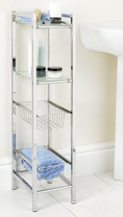 Bathroom Slim Line Storage Tower