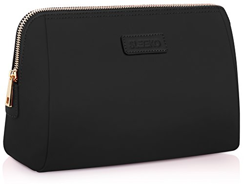 Large Cosmetic Makeup Bag/Pouch/Clutch Travel Case Organizer Storage Bag for Women's Accessories Toiletry Beauty and Skincare | Travel Accessory Water Resistant Bag By : SLEEKO from SLEEKO