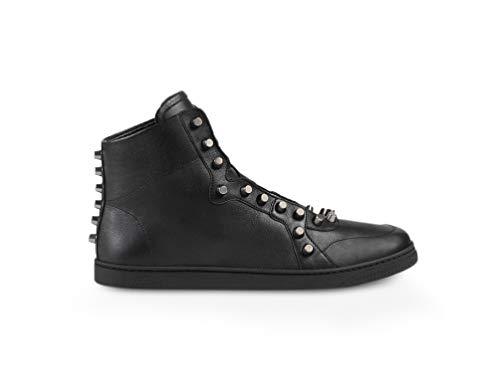 Nappa Leather High-top Sneakers, Nero (Black) (10 US / 9.5 UK) ()
