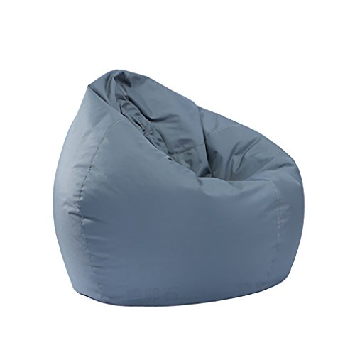 D DOLITY Large Size Bean Bag Cover without Filling Beanbag Chair for Adult Teen Children 30x30x35 inch - Grey by D DOLITY
