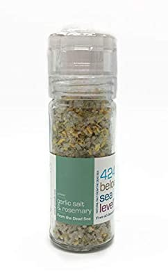 Garlic Salt & Rosemary Gourmet Salt Collection From The Dead Sea 3.87oz