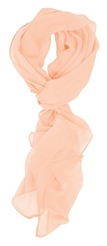 Love Lakeside Modern Chiffon Solid Color Silk Blend Oblong Scarf Nude