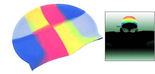 Flexible Silicon Skin Swim Cap - Multi-Colored