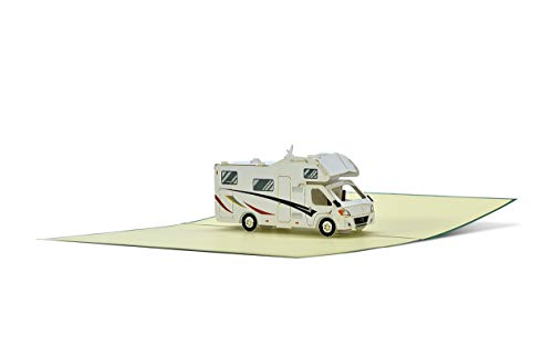 319Iu0%2BbNLL Geburtstagskarte mit Pop Up Wohnmobil   Karte Geburtstag mit 3D Wohnwagen als Reisegutschein   Gutschein Urlaub…
