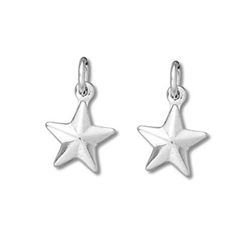 Sterling Silver Very Tiny Star Charm Item #3569 - 2 pcs