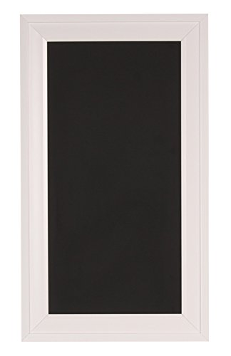 DesignOvation 209376 Bosc Wall Mounted Framed Magnetic Chalkboard,White,Small,13.5x23.5 by DesignOvation