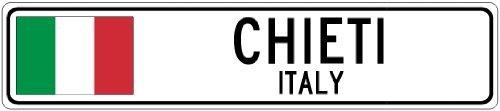 Custom Street SignCHIETI, ITALY - Italy Flag City Sign - 3x18 Inches Aluminum Metal Sign