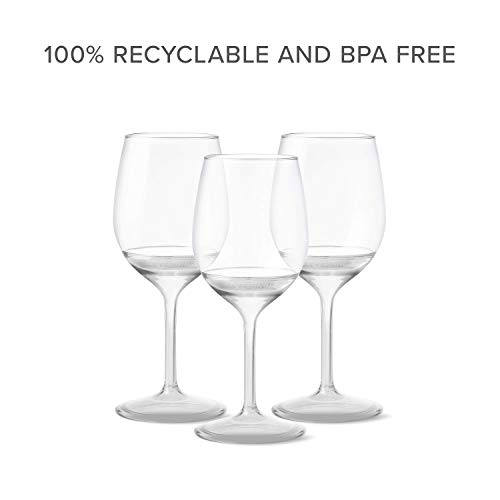 TOSSWARE VS01020047 14oz Stemmed Vino-Recyclable Wine Plastic Cup Detachable Shatterproof, and Bpa-Free Glasses, Set of 48, Clear by TOSSWARE (Image #5)