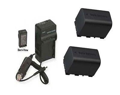 2電池+充電器for JVC gz-hd620、JVC gz-hd620u、JVC gz-ms110、JVC gz-ms110buc、JVC gz-ms110bus B01DLNJZZ8