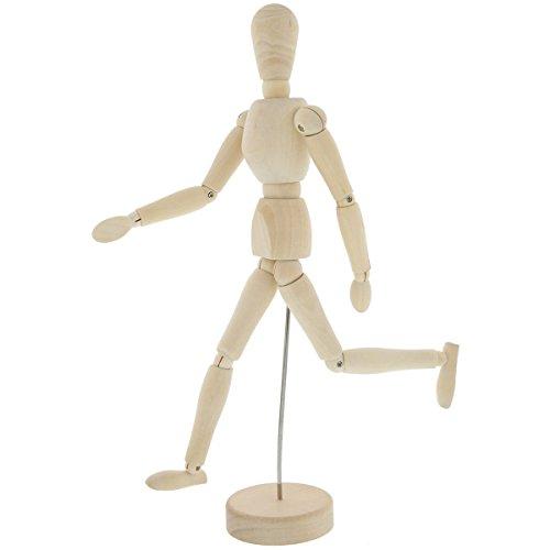 MyMei 14の関節で多彩なポーズを再現! デッサン 人形 モデル 木製人体 人体模型 画材 知育玩具 幼児教育 (20cm)の商品画像