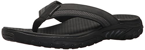 Skechers Men's Relaxed Fit-Reggae-Cobano Flip-Flop,black,10 M US by Skechers