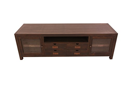 NES Furniture Fine Handcrafted Solid Teak Wood Ribery TV Stand/Console Table, 69