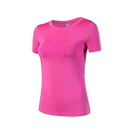 トーク財団叙情的なLNJLVI コンプレッションウェア レディーズ スポーツウェア 半袖 トップス[UVカット?吸汗速乾] Tシャツトレーニングアンダーウェア 5色 5サイズ