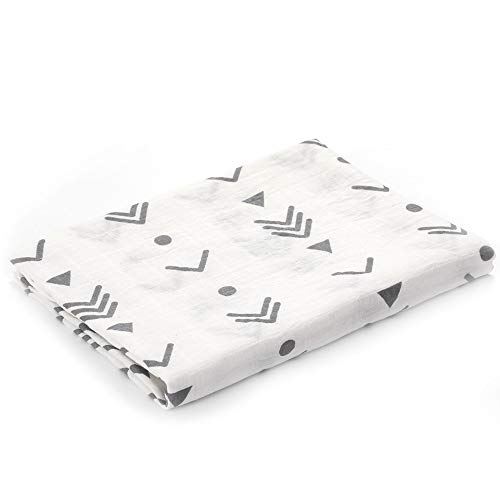 Muslin Swaddle Blankets Silky Soft 100% Cotton Absorbent 1 Pack 47×40 inch Large Muslin Swaddle Baby Shower Gift for Girl and Boy (Color NO 2)