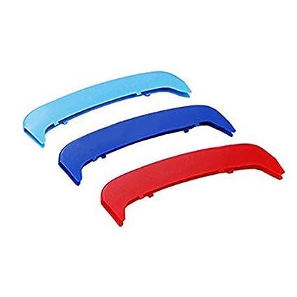 Pour B M W 1-7 S/érie Calandres avant Ins/érez accessoires,M-Couleur Front Grille Trim Strips Pour B M W 1S/érie E87 2004-2011,12 Grilles Angle arrondi