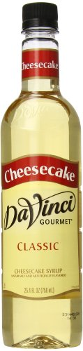 DaVinci Gourmet Classic Syrup, Cheesecake, 25.4 oz  (Pack of 6)
